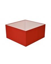 Abażur kwadrat 40 cm czerwony
