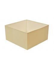Abażur kwadrat 40 cm ecru