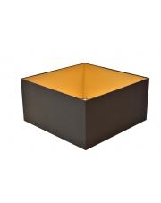 Abażur kwadrat 40 cm czarny ze złotym wnętrzem