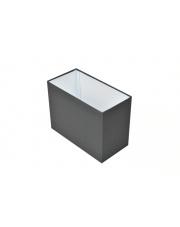 Abażur prostokąt 20x10 cm grafit