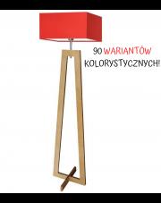 LAMPA STOJĄCA BONO KWADRAT DREWNO CLASSIC