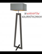 LAMPA STOJĄCA BONO KWADRAT DREWNO GOLD