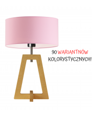 LAMPA NOCNA DREWNIANA BONO WALEC CLASSIC