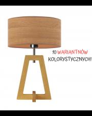 LAMPA NOCNA DREWNIANA BONO WALEC FORNIR